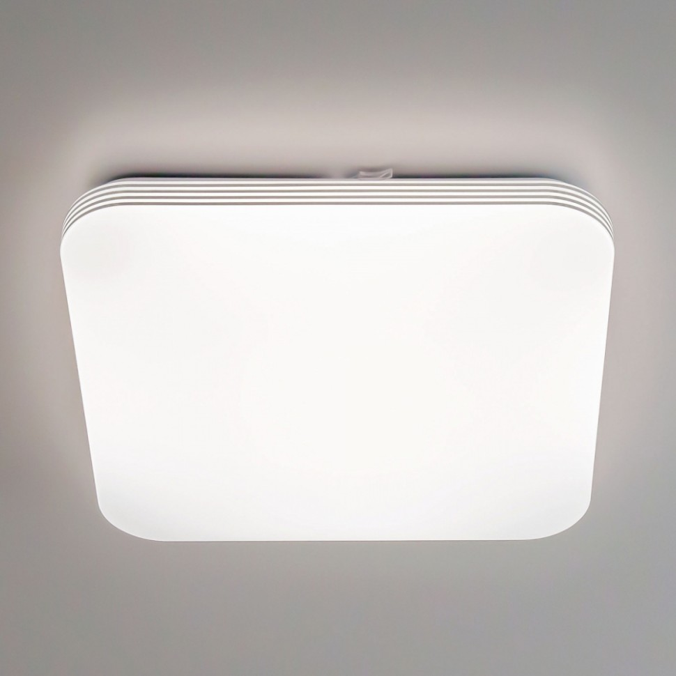 Потолочный светодиодный светильник с пультом ДУ (инфракрасный) и RGB подсветкой Citilux Симпла CL714K480G